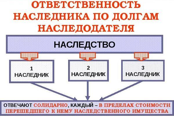 Долги наследодателя и их переход к наследнику по ст 1175 ГК РФ