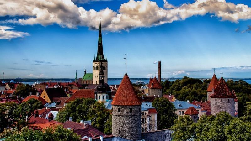 Очередь на границе с Эстонией в 2019 году