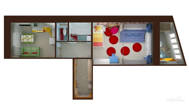 Квартира распашонка: что это такое, основные виды планировки, плюсы и минусы